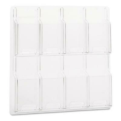 Safco 5608CL Reveal Clear Literature Displays, 8 Compartments, 20.5w X 2d X