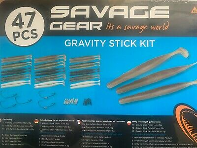 lure box Savage Gear Gravity Stick Kit 47 pieces for all sea fishing