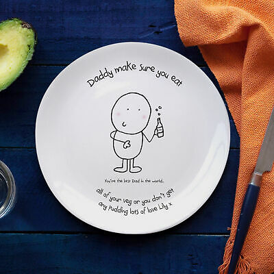 Personalised Chilli and Bubbles Best Dad Plate Gift Fathers Day Birthday Daddy