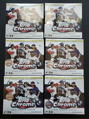 Topps Chrome 2020 Updated Series Baseball Mega Boxes (6) Factory Sealed