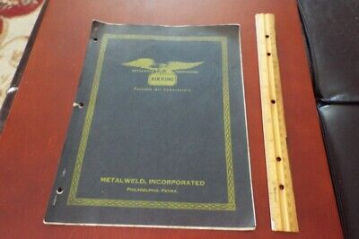 1930 Metalweld Worthington Air King Portable Air Compressors Instructions Parts