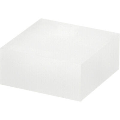 """Plymor Frosted Polished Acrylic Square Display Block, 1"""" H x 2"""" W x 2""""D (3 Pack)"""
