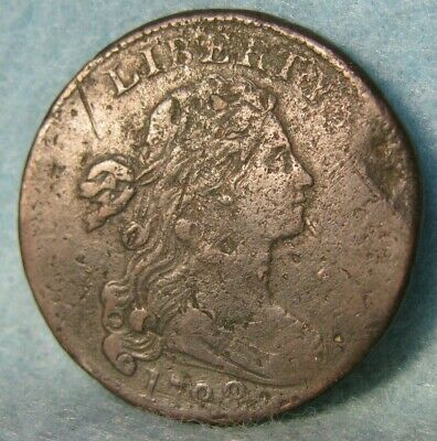 1798 Draped Bust Large Cent Better Grade Details United States Type Coin