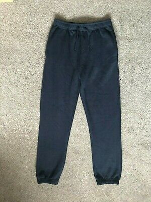 New Primark Boys Dark Navy Blue Sports Bottoms Loose Trousers 11-12 years 152cm