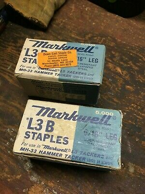 """9,000+ Markwell L3B Tackmaster 5/16"""" Staples (2 Boxes of +/- 5000)"""