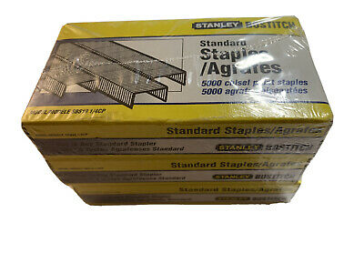 Stanley Bostitch Standard Chisel Staples Model SBS19 1/4CP 3 Boxes 5000/per, NEW