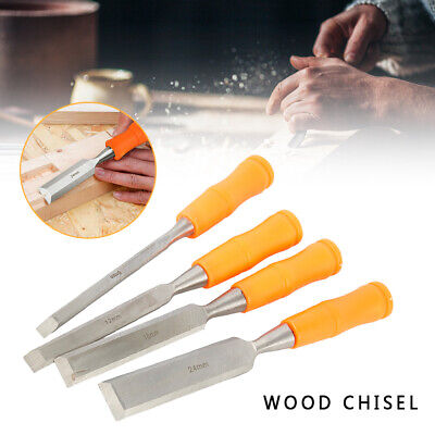 4 pcs Total Tools WOOD CHISEL SET Woodworking Carpentry Hand Carving Bevel Edge