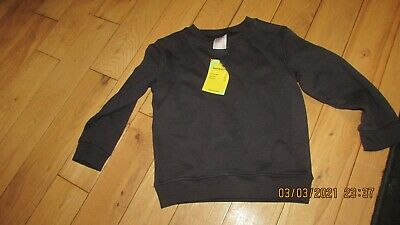 new navy sweatshirt, school uniform, 80% cotton, John Lewis, age 3-4 years
