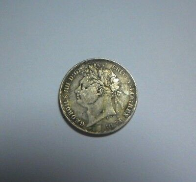 Great Britain 6 pence 1824 King George IV ,Silver coin