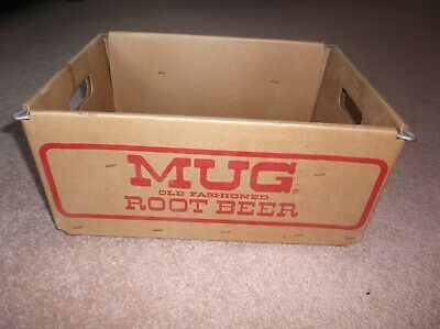 Mug Old Fashioned Root Beer & Schwepps cardboard box  FREE SHIPPING
