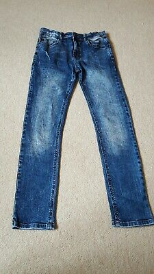 Skinny Stone Washed Distressed Blue Jeans age 12 Yrs by Very
