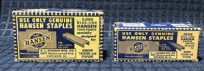 Hanson Staples Vintage Boxes Lot Two Complete With Staples