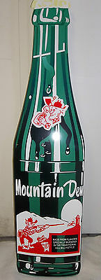 Giant Mt. Dew Bottle, Great Colors and Graphics on this Throw Back Bottle Sign