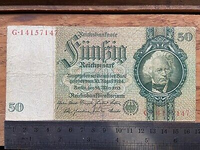 Germany 50 Reichsmark 30.3.1933 P#182a