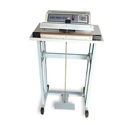 """12"""" Foot Pedal Sealing Machine, Commercial Impulse Sealer with Cutter, Plastic B"""