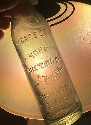 Tall Thin York PA Brewing Co Beer Bottle Registered 8 Oz Early 1900 Advertising