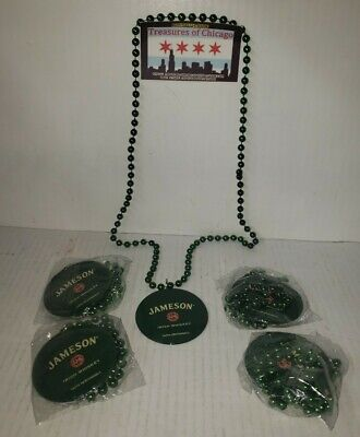 Lot of 5 Jameson Irish Whiskey  Beads Necklace St. Patrick's Day. FREE FAST SHIP