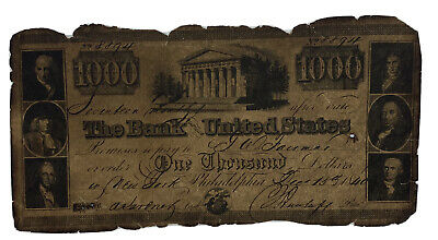 1840 1000 Dollars Banknote Reproduction
