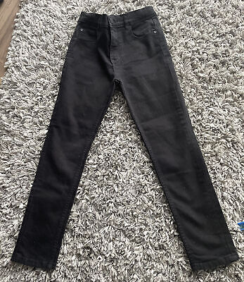 Next Boys Black Skinny Fit Jeans, Age 9 Years, Adjustable Waist