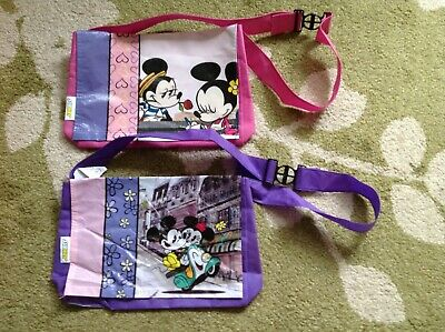 Disney MICKEY MOUSE MINNIE MOUSE Subway kids lunch bags x 2