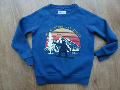 FAT FACE boys blue print sweatshirt jumper AGE 6 - 7 YEARS EXCELLENT COND