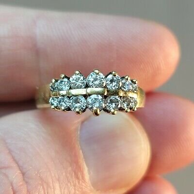 4.65 g 14K Yellow Gold 1 ctw Diamonds Not Scrap Ring Size 6 1/4 Can Be Resized