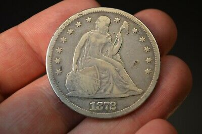 1872 Liberty Seated Silver Dollar Great Eye Appeal!!! No Problem Coin