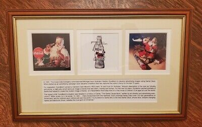75th Anniversary of Santa Ads Coca Cola Framed Story and Print!