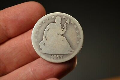 1877 S San Francisco Mint Seated Liberty Silver Half Dollar