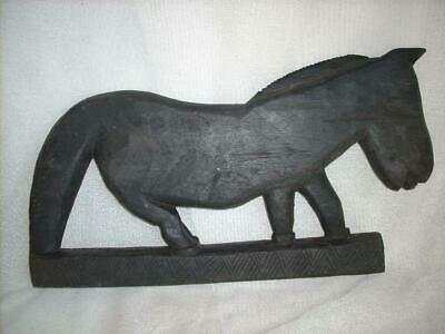 Wood Handcarved Horse Statue Characterfilled Totem West Timor Indonesia