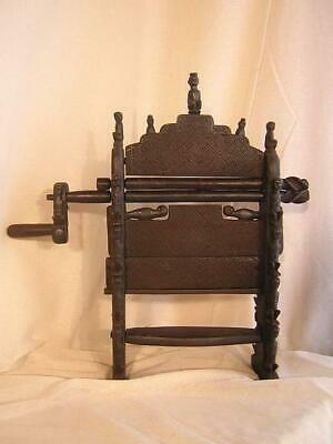 Cotton Gin Deseeding Mangle Wood Hand Made Elaborate Statue West Timor Indonesia