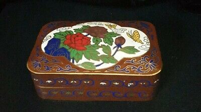 20C Chinese/Japanese stunning Cloisonne jewellery Or Pill box,10cm×6cm approx !!