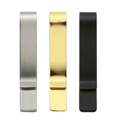 1pc Practical Metal Stainless Steel Money Clip Holder Folder Collar Clip
