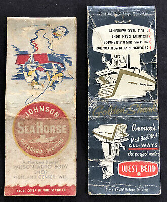 Vintage Johnson Sea Horse And Pesch Marine Sales & Service Matchbooks