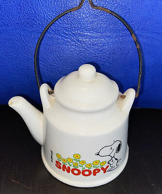 """Vintage 1958 United Feature Syndicate Snoopy Teapot Ornament 3"""" High"""