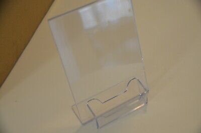 """Fifty (50) Marketing Holders 5""""w x 7""""h Ad Sign Holder with Business Card Holder"""
