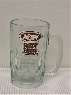 "Scarce HANDLED A & W ROOT BEER MUG STEIN 5 5/8"" 16 Ounce CANADIAN LOGO"