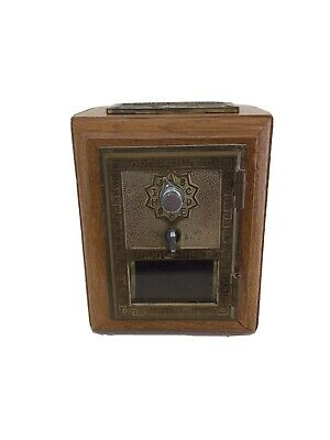 Oak Bank With Original Usps Post Office Box Door - Olde Time - Limited Edition