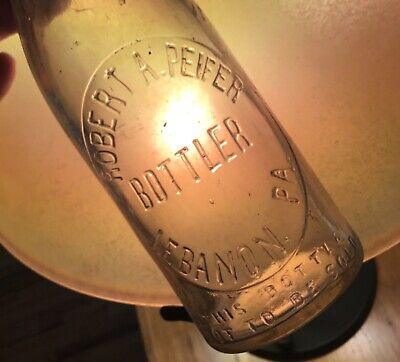 Old Lebanon PA Soda Bottle Robert A Peifer Bottling Early 1900s Era Advertising