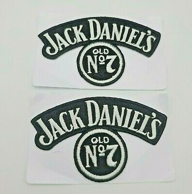 2 JACK DANIELS OLD No.7 BLACK & WHITE PATCHES