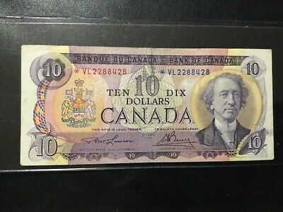 1971 Canada Paper Money - 10 Dollars Star Banknote!