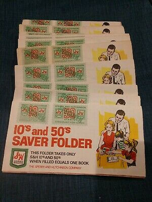 Vintage S & H Green Stamps 10s and 50s Saver Folder.