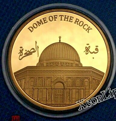 Dome of the Rock Mosque on the Temple Mount Jerusalem gilding