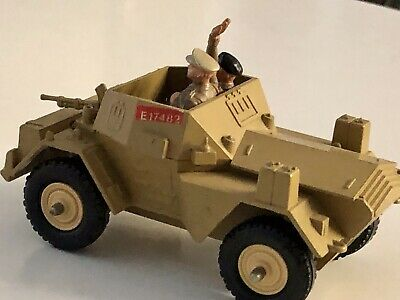 Britains Ltd 1970/'s Scout Car Daimler MKII Toy Armored Brown Diecast Metal