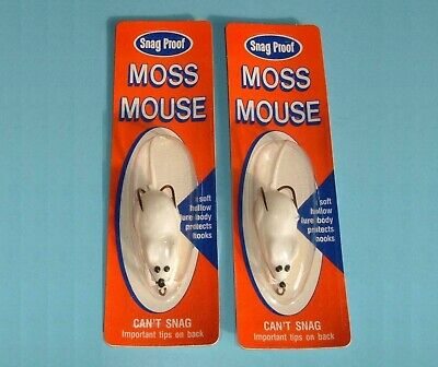 Vintage Snag Proof Moss Mouse Fishing Lure Brown New Old Stock