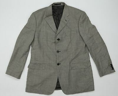M/&S Gents/' WOOL Blend TAILORED Fit OVERCOAT ~ Size S or M ~ BLACK