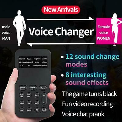 Voice Disguiser Hand-held Microphone Voice Changer Sound Effects Machine Portable Mini Voice Changer Device English Version 143 Voice Changer 4 Voice Changes For Mobile Phone PC