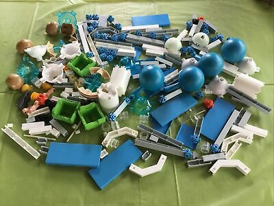 """Vintage Fisher Price CONSTRUX Building Toy Parts Lot 10 Straight Green Beam 2/"""""""