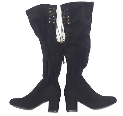 Details about  /Fashion Women/'s Tassel Knee High Boots Pull On Flat Heels Roman Faux Suede Shoes