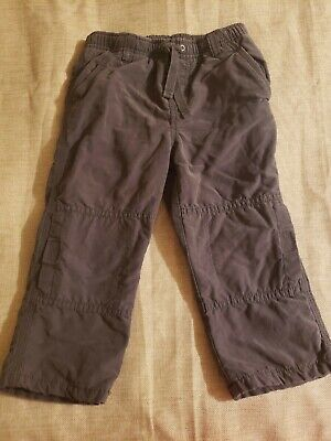 Gymboree WOODLAND PARTY Grey Fleece Lined Pants NWT 12-18 2T boys Active